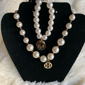 Bundle- Tory Burch Pearl necklace and brac…